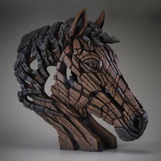 Edge Horse Bust Bay Matt Buckley Edge Sculpture