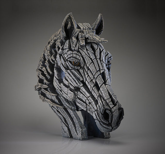 Horse Bust White by Edge Sculpture