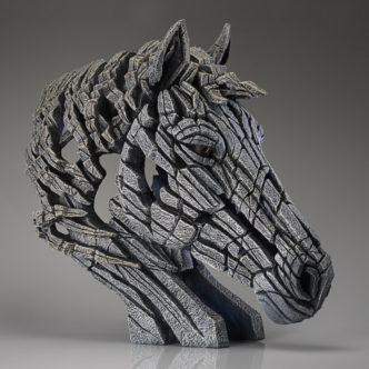 Horse Bust White Matt Buckley Edge Sculpture