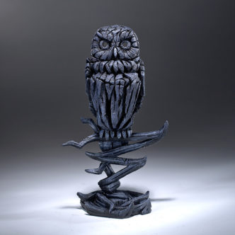 Owl Midnight Blue Matt Buckley Edge Sculpture