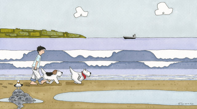 A Day at the Beach with Duke & Princess Ethel