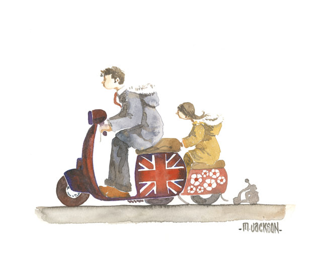 Jack & Daisy - Mods riding Scooters