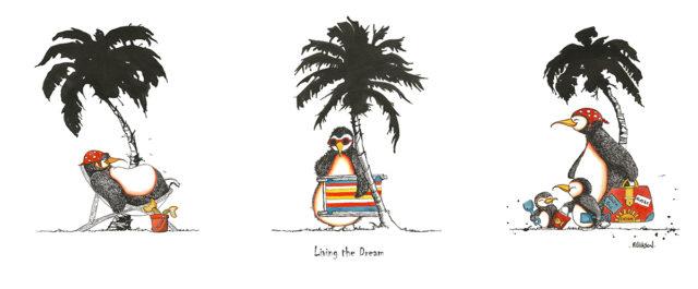 Living The Dream (Triptich) - Penguins