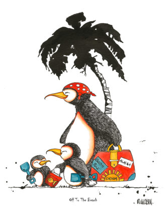 Off to the Beach - Penguins