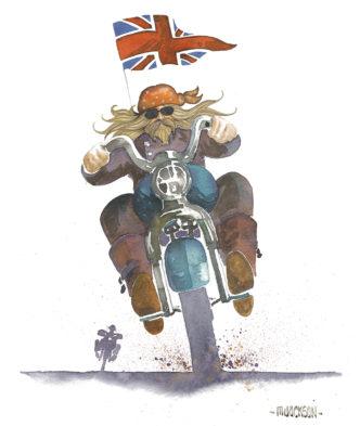 Proud to be British - Rocker on Bike