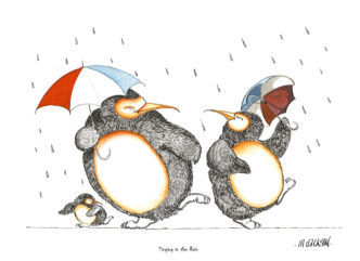 Singing in the Rain - Penguins