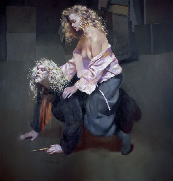 The Painter with Lisa by Robert Lenziewicz