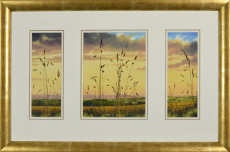 Lilac Days Triptych Original