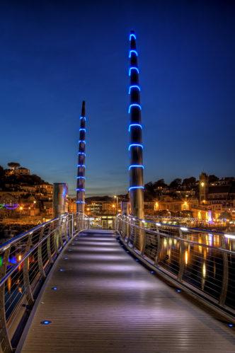 Torquay Bridge by Night (Small)
