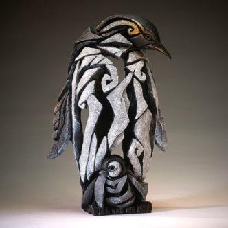 Penguin with Chick Matt Buckley Edge Sculpture