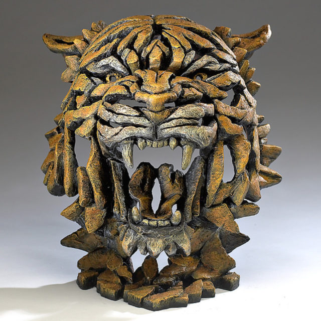 Tiger Bust Bengal Matt Buckley Edge Sculpture