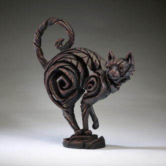 Cat Black Sculpture by Matt Buckley Edge Sculpture