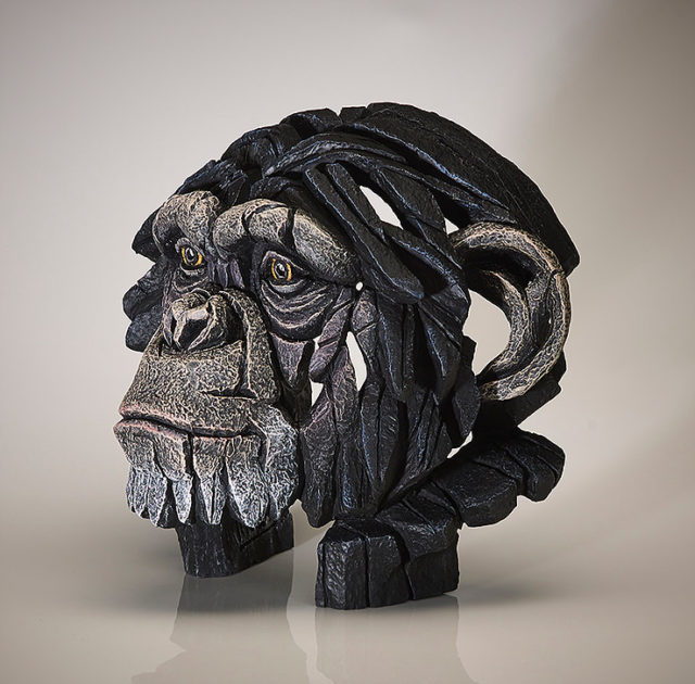 Chimpanzee Bust Sculpture by Matt Buckley, Edge, Robert Harrop Designs.