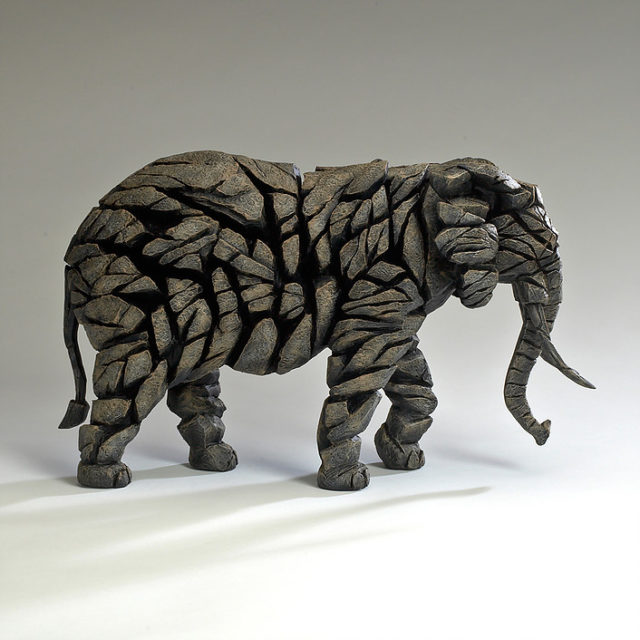 Elephant Mocha Matt Buckley Edge Sculpture