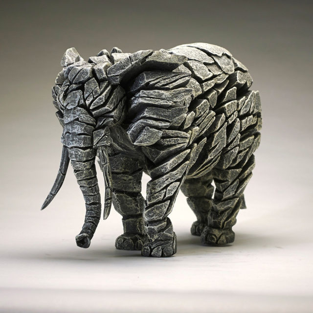 Elephant White by Matt Buckley Edge Sculpture
