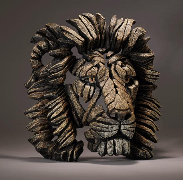 Lion Bust Sculpture by Matt Buckley, Edge, Robert Harrop Designs.