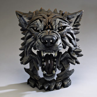 Edge Sculpture Wolf Bust Sculpture by Matt Buckley, Edge, Robert Harrop Designs.