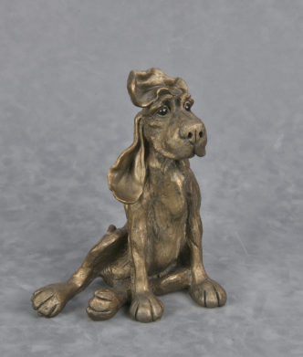 Frith bronz resin dog