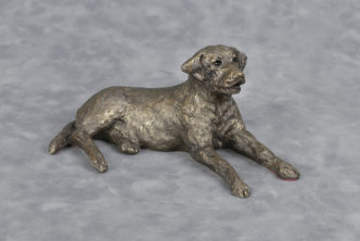 Frith Sculpture Dog Lying