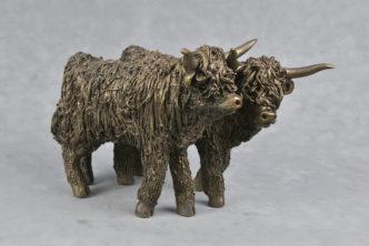 Frith Sculpture Highland Heifers