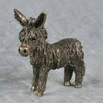 Baby Donkey Standing by Frith Sculpture