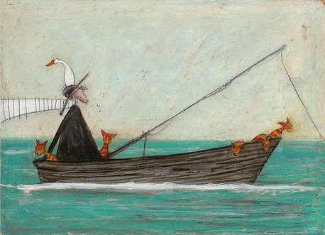 Fish Hunt by Sam Toft Signed Limited Edition book and print set.