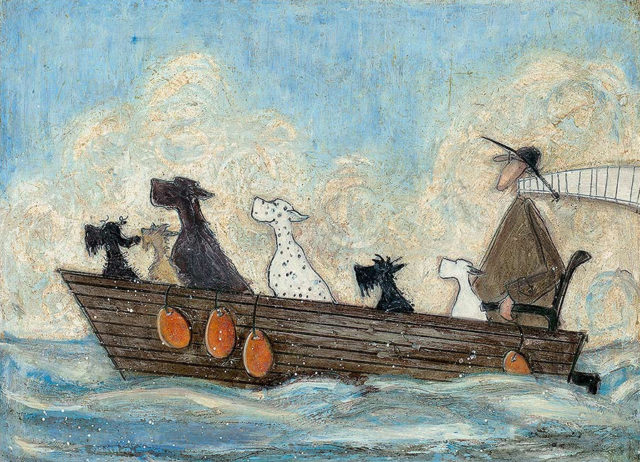 Sea Dogs by Sam Toft Signed Limited Edition book and print set.