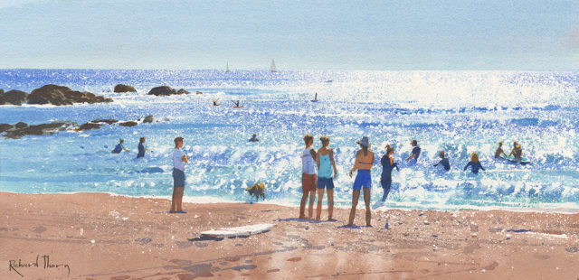 Afternoon Surf by Richard Thorn