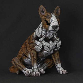 Bull Terrier brindle by Matt Buckley Edge Sculpture