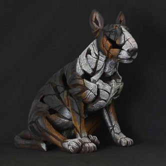 Bull Terrier Tri-Colour By Mat Buckley Edge Sculpture