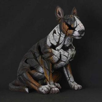 Bull Terrier Tri-Colour By Mat Buckley Edge Sculpture