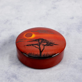African Sky Trinket Box by Pool Pottery