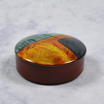 Gemstone Trinket Box 14cm by Pool Pottery