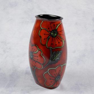 Poppy Field Manhatton Vase by Pool Pottery