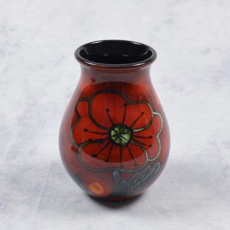 Poppy Field Venetian Vase by Pool Pottery