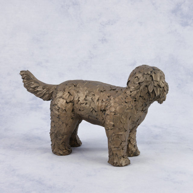 Button the Labradoodle (AT034) by Frith Sculpture