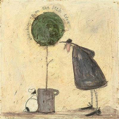Checking Up On Little Tree by Sam Toft