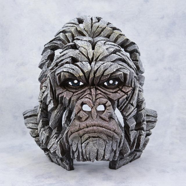 White Gorilla Bust Matt Buckley Edge Sculpture