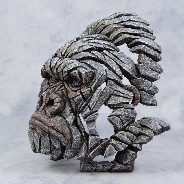 White Gorilla Bust Sculpture by Matt Buckley, Edge, Robert Harrop Designs.