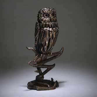 Owl Figure (Golden) Matt Buckley Edge Sculpture