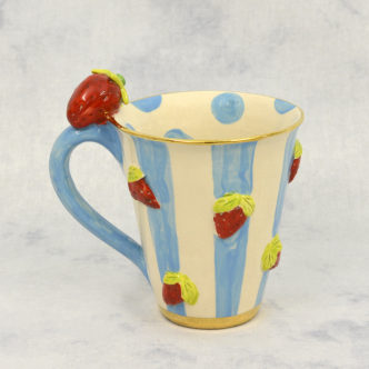 Strawberry Mug by Mary Rose Young