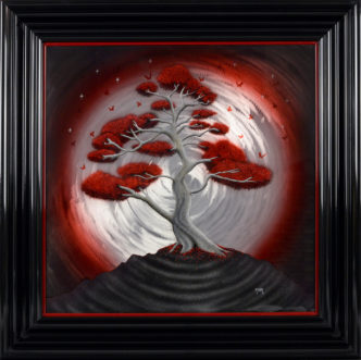 Shangri Larch (Original on Metal) by Tamsin Evans Art on metal larch tree contemporary art