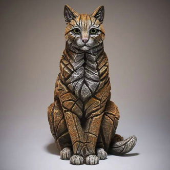 Cat Sitting Ginger Matt Buckley Edge Sculpture