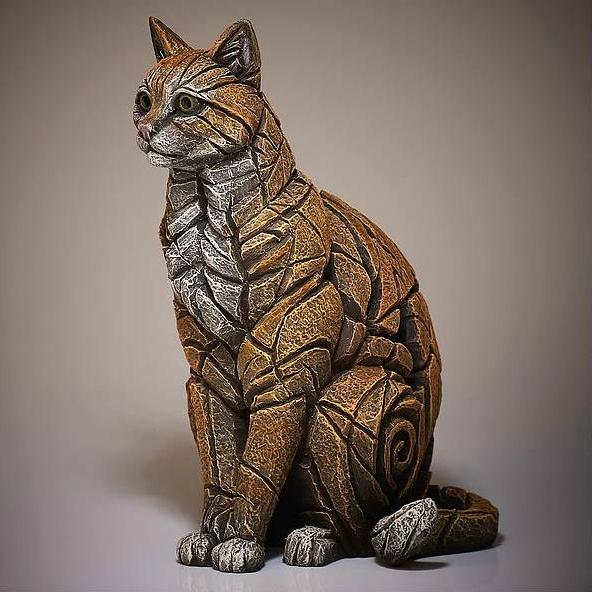 Ginger Cat Sculpture by Matt Buckley, Edge, Robert Harrop Designs.