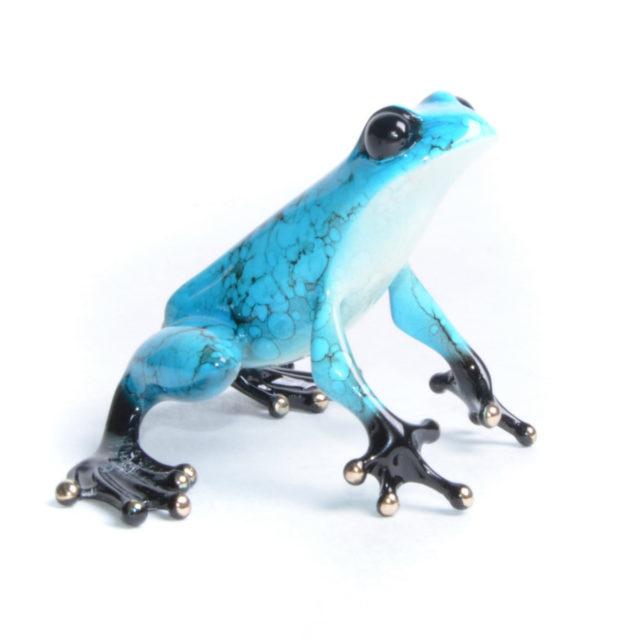 Jasmine (Solid Bronze Frog Sculpture) by Tim Cotterill Frogman Torquay Devon