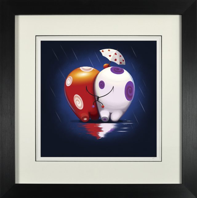 Is it Raining? We've Knot Noticed! Framed Signed Limited Edition Print by Rob Palmer at Haddon Galleries, Torquay, Devon
