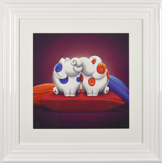 Pillow Talk Framed Limited Edition Print by Rob Palmer at Haddon Galleries Torquay Devon