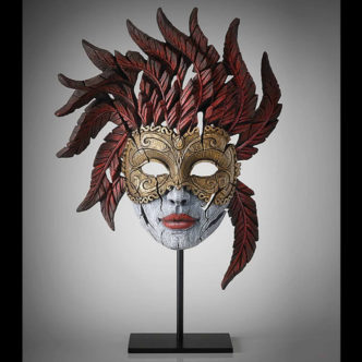 Venetian Mask Masquerade Matt Buckley Edge Sculpture