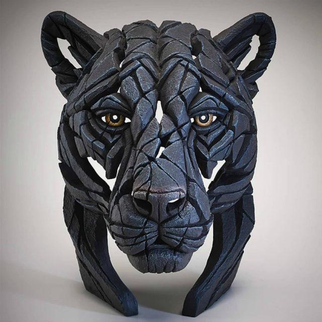 Panther Bust Matt Buckley Edge Sculpture
