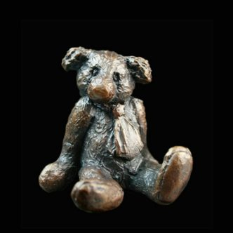 Edgar Teddy Bear Solid Bronze Sculpture by Mike Simpson